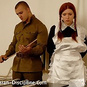 A terribly severe caning for 2 redhead girls