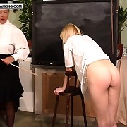 Luring school girls forced to remove their knickers added to angle give up for burnish apply cane