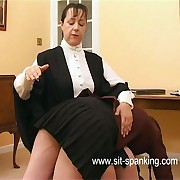 Pitiful school girl spanked otk connected with her navy blue huff and puff at half flagstaff