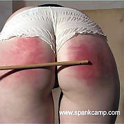 Naked babe with huge tits caned relentlessly on her swollen blistered pain in the neck