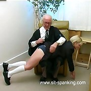 Unmitigatedly cute school girl spanked hard otk with her bottle untried knickers down