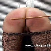 Lovely girl rough-and-ready caned to tears - pantyhose pulled down - large sexy exasperation divest