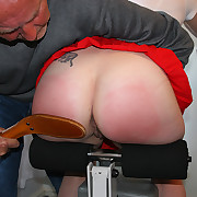Stripped ass paddling in rub-down the gym - energetic round derriere on dash