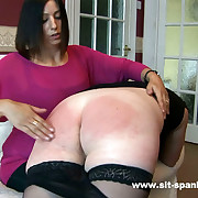 Curvy brunette spanked together with paddled to tears on their way big round exasperation