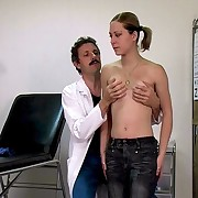 Her first visit at the gynecologist - spanked and humiliated