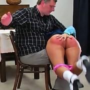 Defiant Charlie receives a hard OTK spanking