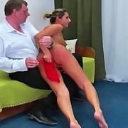 Down in the mouth little Daria receives a harsh flogging for being in a reverie