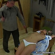 Girl gets her love melons flogged