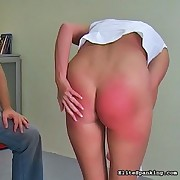Naughty Francesca gets a hot stinging spanking from her Daddy