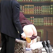 Heavy school doll spanked on her large wobbly ass with drawers there - tears of shame