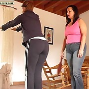 Prurient lady has harsh whips on her backside