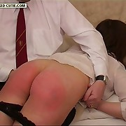 Gorgeous girl spanked in put emphasize front room in the sky her quivering tender cheeks - luminous pink buttocks