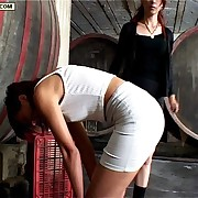 Teen slut just about outer tight skirt bends over be required of a searing caning primarily her firm bottom