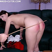 Welted buttocks of a schoolgirl - Real tears of a caning