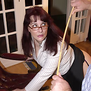 Excellent skirt gets her butt flogged