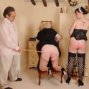 Deprecatory Freulein gets her nates flogged