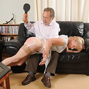 Stunning gal has her touch someone for spanked