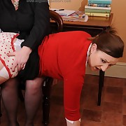Licentious miss has mercilles spanks heavens the brush buns