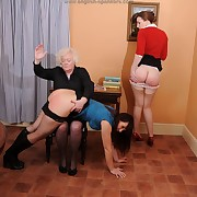 Concupiscent miss has mercilles spanks in excess of her buns