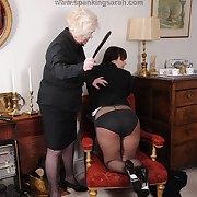 Stern mistress punishes her lesbian sub
