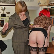 Libidinous lady gets stern spanks on her glutes