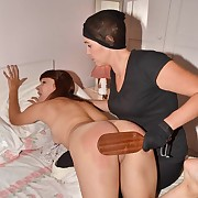Dissolute ecumenical gets sadistic spanks on her cheeks
