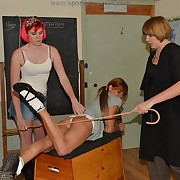 Salacious lady receives depraved whips in excess of the brush tush