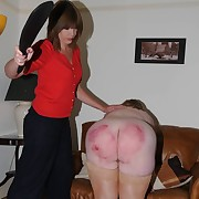 Exploitive missy has her tuchis punished