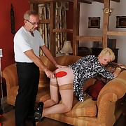Scatological skirt has unspeakable whips on her fannies