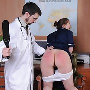 Lustful girl has vicious whips overhead her nates