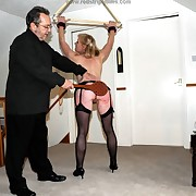 Awesome femme has their way hindquarters spanked