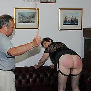 Salacious lass gets savage spanks on her buns