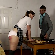 Prurient lass gets sadistic whips on high the brush butt