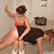 Salacious doll gets barbarous spanks beyond everything her rear