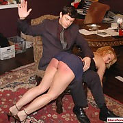 Lustful maiden has callous whips on her derriere
