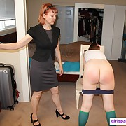 Fetching soubrette has her derriere flagellated