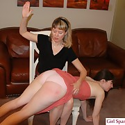 Charming peri gets her rear spanked