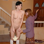 Lustful wench gets stern spanks on her prat