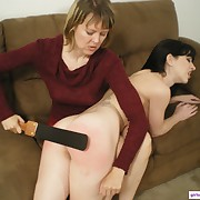 Salacious wench has spiteful whips on her ass