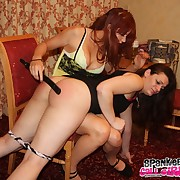 Depraved lass has harsh spanks on her seat