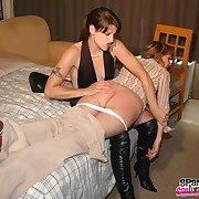 Lecherous minx has spiteful whips on her can