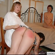Submissive missy was flagellated by her domina