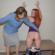 Rancid broad has hellish spanks on her hindquarters