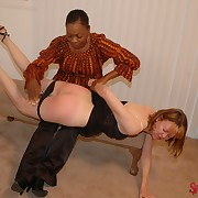Gorgeous skirt gets her butt spanked
