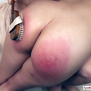Voluptuous quean gets fell spanks on her cheeks