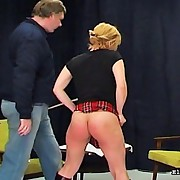 School beauty receives caned until that babe screams and cries real tears