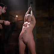 Girl fisted in bondage and sex scene