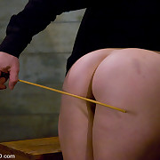 Big gorgeous slave wazoo spanked and fucked