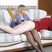 The lady spanked aside lover