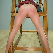 Girls gets spanked